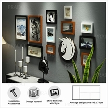 Premium Wooden Wall 11 Photo Frame Decor for House Office Airbnb 0262