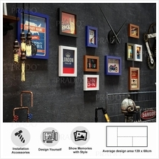 Premium Wooden Wall 11 Photo Frame Decor for House Office Airbnb 0292