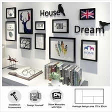 Wooden Wall 10 Photo Frame Decor for House Office Airbnb HOUSE DREAM
