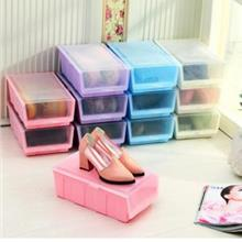 Fashion Transparent Thick Plastic Storage Box with Cover