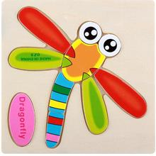 Educational Cartoon 3D Wood Puzzle (Dragonfly)