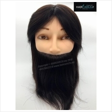10 inches Barber Male Mannequin Head 100% Human Hair with Clamp Holder