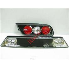 Sonar Nissan Silvia S13 Black Crystal Tail Lamp + Reflector