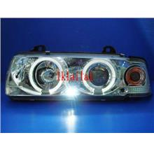 Sonar BMW E36 '92-98 2D PROJECTOR Head Lamp + LED Ring [Chrome]