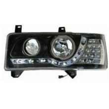 VW T4 '93-97 DRL R8 Projector Head Lamp + LED Corner Black