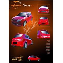 Proton Savvy R3 Style Full Set Body Kit PU Bodykits [Skirt+Spoiler]