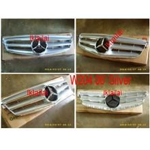 Mercedes C-Class W204 06 Front Grille Avantgarde Style(Silver/Black/Wh