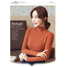 Korean	Semi-High Collar Long Sleeve	Sweater	[Pre-Order]	HXE-013