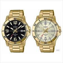 CASIO MTP-VD01G STANDARD analog date diver look marine bracelet gold