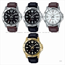 CASIO MTP-VD01GL MTP-VD01L STANDARD analog date diver look leather