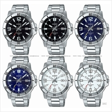 CASIO MTP-VD01D STANDARD analog date diver look marine bracelet