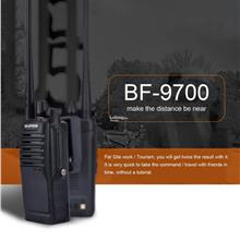 Waterproof BF-9700 Walkie Talkie Earpiece UHF Radio Transceiver For Ou