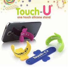 Touch-U One Touch Silicone Phone Holder Stand for Mobile Smart Phone