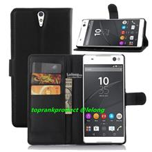 Sony Xperia C5 Ultra M5 Dual Flip PU Leather Stand Case Cover Casing