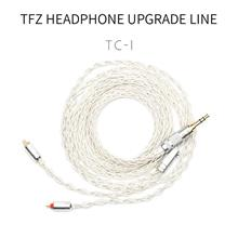 TFZ TC-1 | 2-pin 0.78  Single Crystal Copper Silver Foil Upgrade Cable