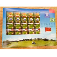 Malaysia 1999 World Cup Golf Stamp Sheetlet MNH