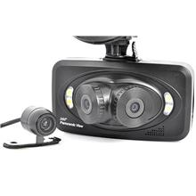 Car Black Box with 3 Cameras - 260 Degree View Angle (WCR-15B)!