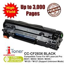 HP 83X CF283X / 83A CF283A HighYield 3K Pages Grade-A Compatible Toner