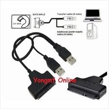 "USB 2.0 to SATA 7+15 Pin 22Pin Adapter Cable For 2.5"" HDD (CP-C-229)"
