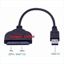 "USB 3.0 to SATA 7+15Pin 22Pin Adapter Cable For 2.5"" SSD HDD (CP-C-230"
