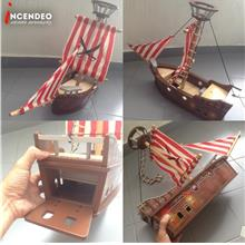 **incendeo** - Pirate Ship Wooden Toy for Kids