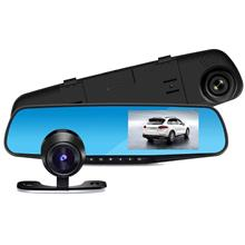 Front and rear Car DVR Rear-view Mirror Full HD 1080P night vision