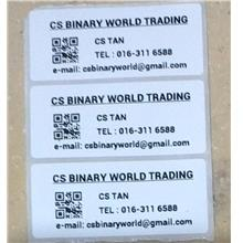 70x30mm Name Label Sticker Printing - WHITE