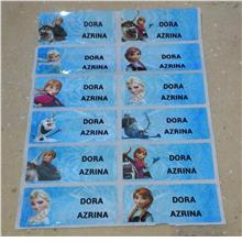 Name label sticker printing 45mmx18mm -FROZEN