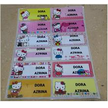 Name label sticker printing 45mmx18mm - HELLO KITTY