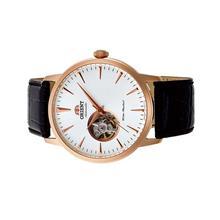 Orient Men Mechanical Esteem II Open Heart Leather Watch FAG02002W