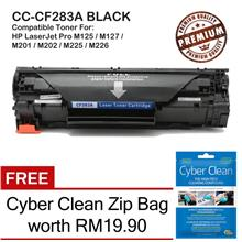HP 83A CF283A Grade-A Compatible Toner + 20% +FREE Cyber Clean Zip Bag