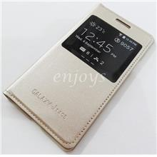 GOLD S View Case Flip Battery Cover Samsung Galaxy J1 Ace /J110G *XPD