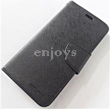 MERCURY Fancy Diary Case Flip Cover Apple iPhone X (5.8) ~BLACK *XPD