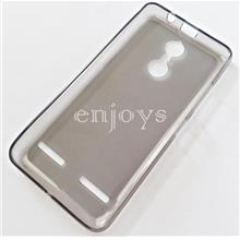 BLACK Soft Jacket Silicon Plain TPU Jelly Case Lenovo K6 Power |5.0'