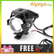 U5 3000LM 125W Motorcycle Motorbike Spot Lamp Fog Light LED Headlight Motorbik