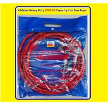 4 Meter Heavy Duty 7000 KG Capacity Iron Tow Rope for emergency use $