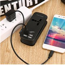 4USB Ports Multi Adapter Office Travel Wall AC Charger Power Plug for