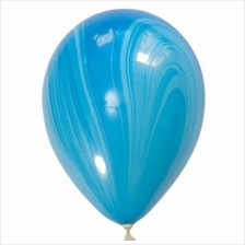 Qualatex Blue Rainbow SuperAgate 11-inch Marble Balloon (3pieces)
