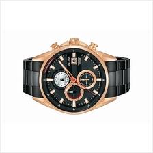 Alba Men Chronograph Black Strap Watch VD57-X129BRGB