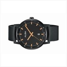 Alba Men Black Mesh Strap Date Watch VJ32-X270BRGB