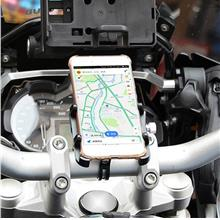 Aluminum Alloy Rotatable Bike Motorcycle Mount Bracket Handlebar Phone