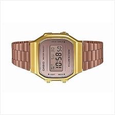 a731bac88a3 Casio Digital Vintage Rose Gold Mirror Face Watch A168WECM-5DF
