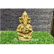 POLYRESIN H 13.5 CM SITTING GANESHA HOME DECORATION GIFT DECO
