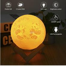 Rechargeable 3D Print Moon Lamp Touch Control LED Night Light Home Dec