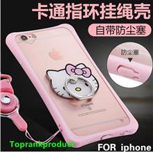 Apple iPhone 6 6S / Plus TPU Silicone Case Cover Casing + Ring Holder