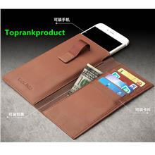 Cow Leather Apple iPhone 6 6S / Plus Wallet Clips Case Cover Casing