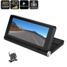 7 Inch Android OS HD, WiFi, 4G, GPS Dual Car Camera (WCR-28B).