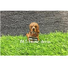 POLYRESIN DOG DECORATION H 6.5 CM DECORATION BLS821