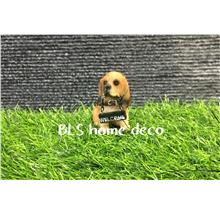 POLYRESIN DOG DECORATION H 6 CM DECORATION BLS823