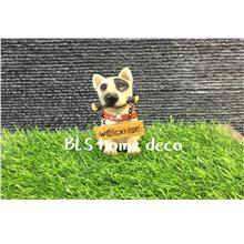 POLYRESIN DOG DECORATION H 10 CM DECORATION BLS825
